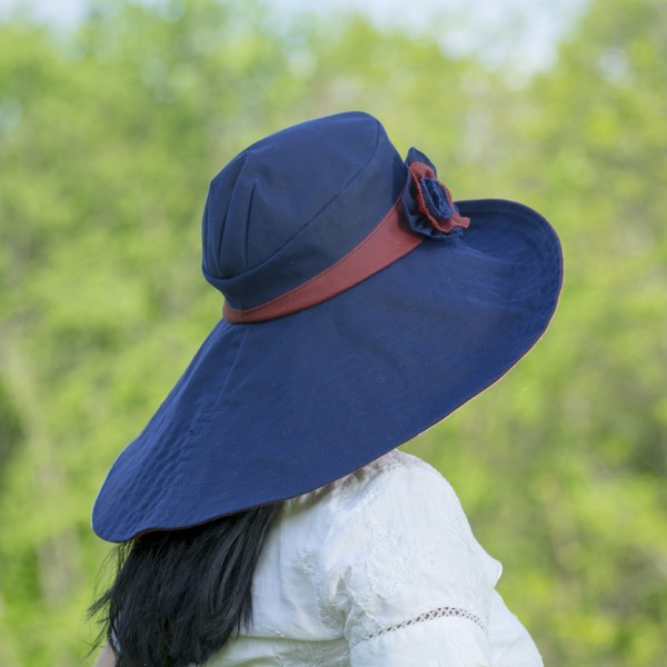 waxed cotton, waterproof, rain or sun hat