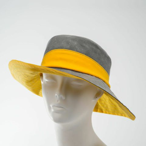 waxed cotton rain and sun hat