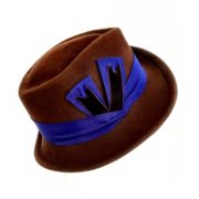brown women's fedora