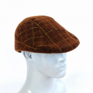 pumpkin plaid flat cap