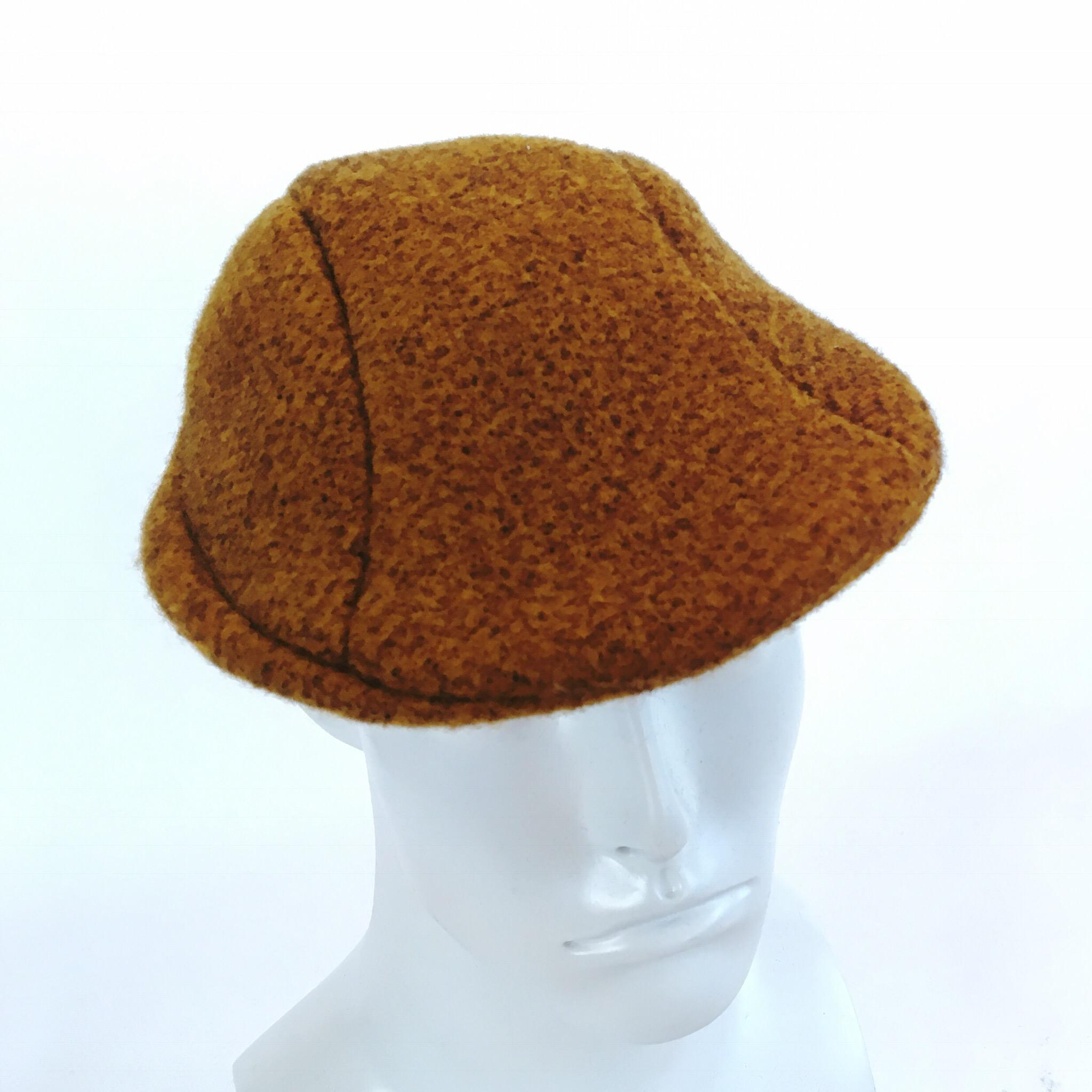 Mens Burnt Orange wool felt Flat Cap 99893664ad2