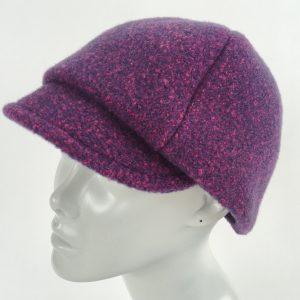 fuschia purple newsboy cap, mod cap