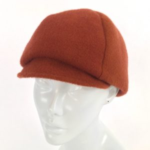 orange newsboy, handmade felt hats