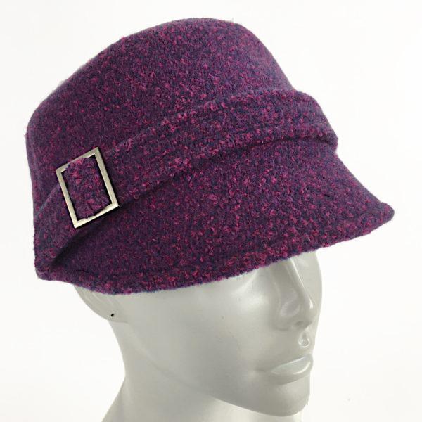 Purple kepi cap