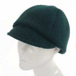 Tartan Green Merino Wool Mod Cap