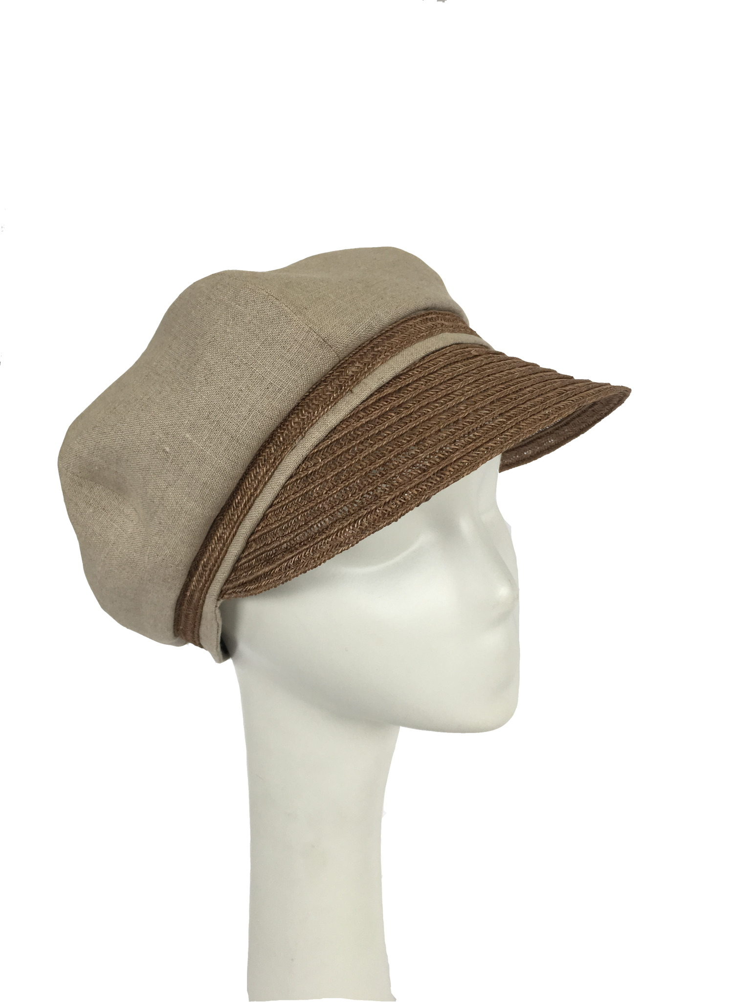 Natural Linen and Hemp Newsboy cap