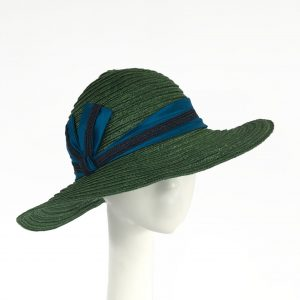Emerald Green Hemp Braid Portrait sun hat