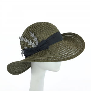 Fern green hemp braid sun hat