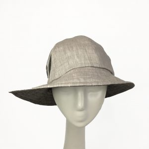 Light Grey linen sun hat