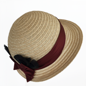 Natural Hemp Braid Cloche Sun Hat