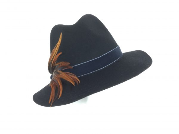 Women's black fedora
