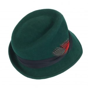 Green women's fedora