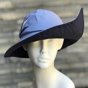 blue rain hat, blue sun hat