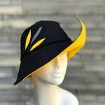 black and yellow rain hat
