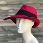 red rain fedora, sun hat