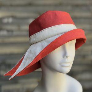 coral rain hat, pink sun hat
