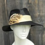 Double pointed fedora sun hat
