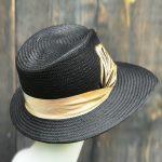 Black sassy sun hat