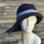 Navy rain hat, navy sun hat