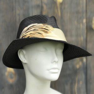 Dramatic black sun hat