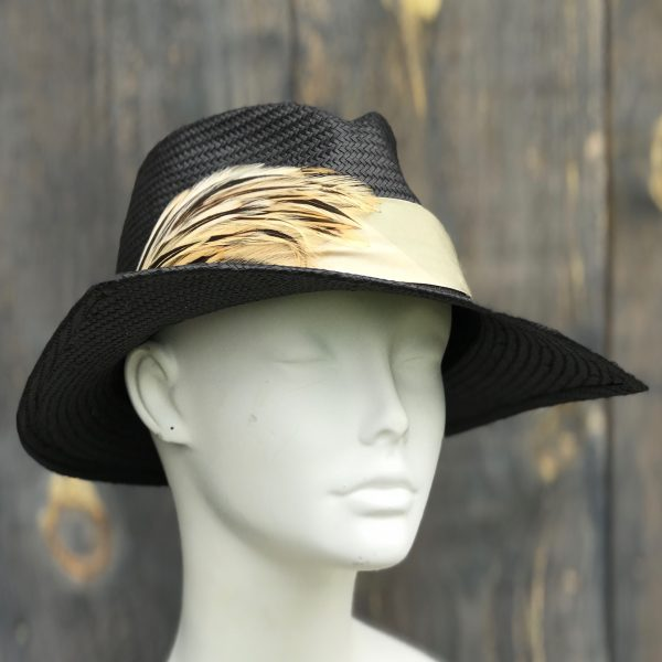 Dramatic black sun hat