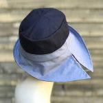 Navy rain hat, sun hat