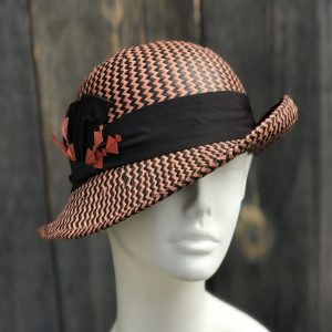 Bowler cloche in straw