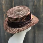 straw top hat side view