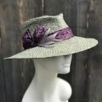 grey sun hat side view