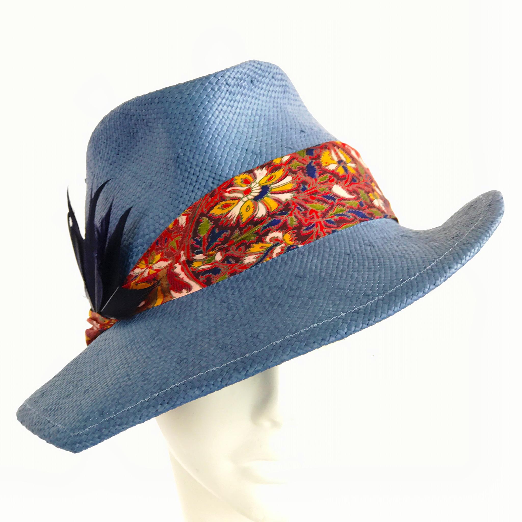 Pointed brim fedora sun hat