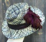 Flamboyant fedora sun hat