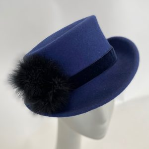 Indigo blue top hat