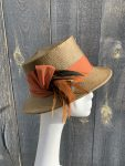 Side view of womens sun hat
