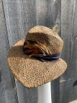 Side view of wide brim sun hat