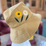 Tan rain hat