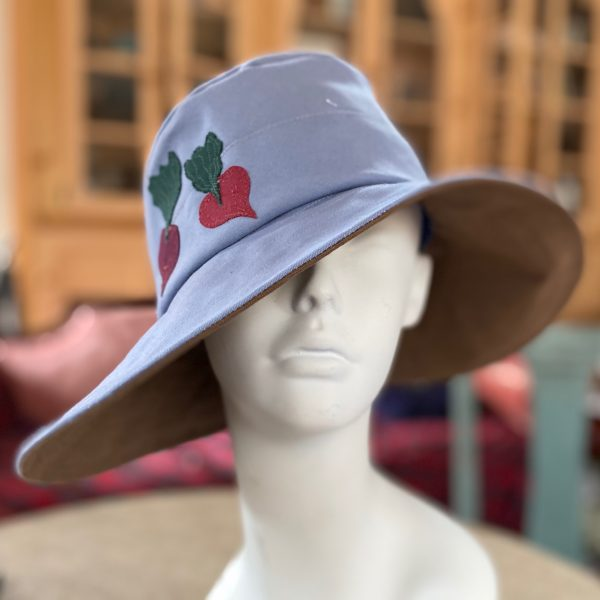 Rain or shine wide-brimmed cloche