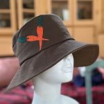 Rain cloche in brown, side view